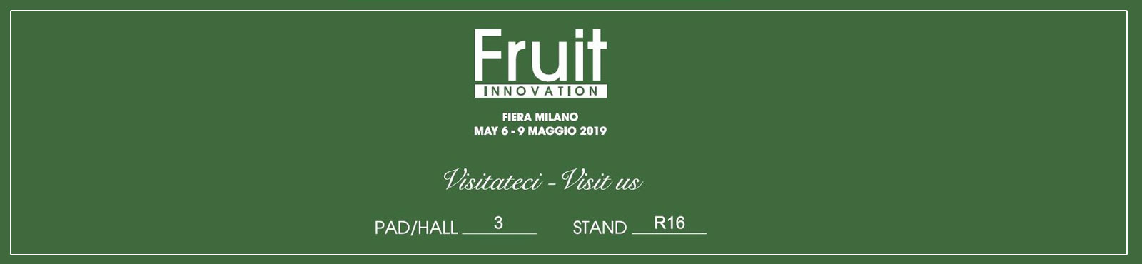 Evento Fruit Innovation dal 6 al 9 Maggio